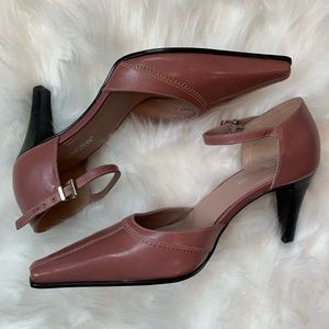 Worthington Rose Colored Ankle Strap Heels
